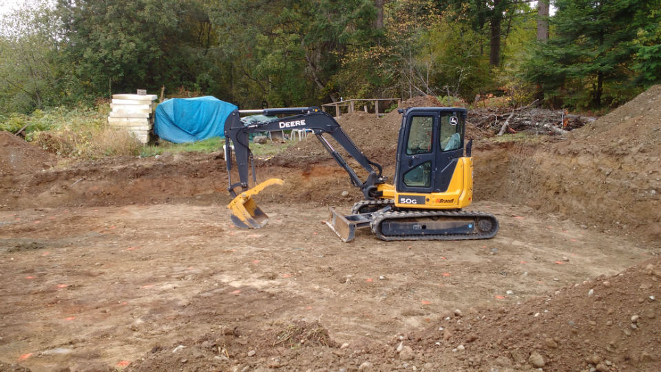 Excavation services, excavating,