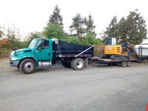 Dump truck and excavator G50